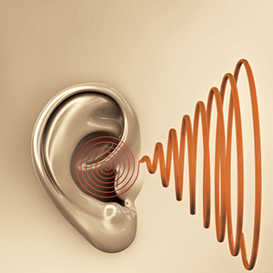 Illustration of ear and sound waves - Omaha NE